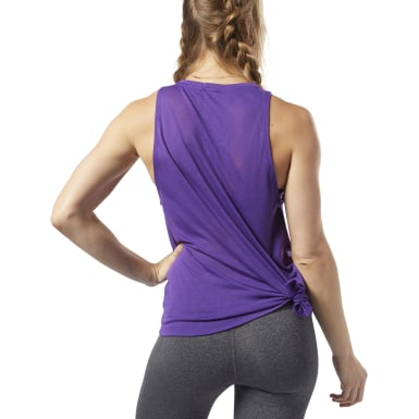 Women Training Purple One Series Burnout Tank Top