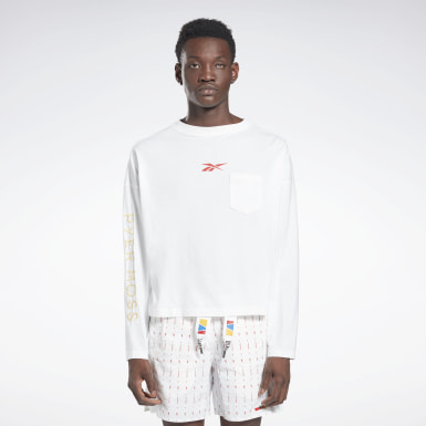 T-shirt à manches longues Reebok by Pyer Moss White Classics