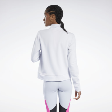 Women Training White Track Jacket