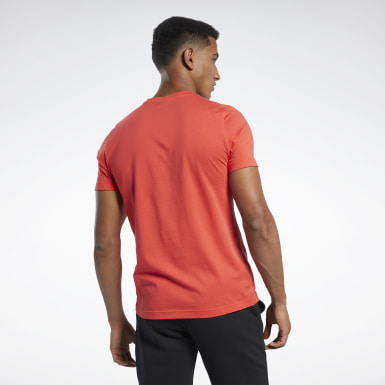 Men Fitness & Training Red Graphic Series Lost Reebok Crew Tee