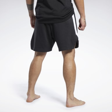 Men Combat Black Combat French Terry Boxing Shorts