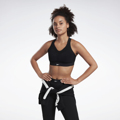 Women Studio Black Reebok PureMove Bra Motion Sense ™