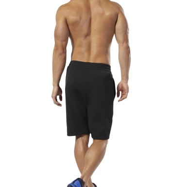 Men Training Black WOR Mélange Doubleknit Shorts