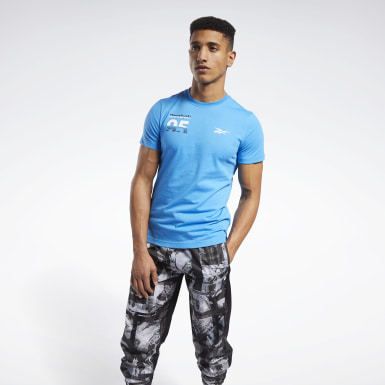 Men Training Blue MYT Graphic Tee
