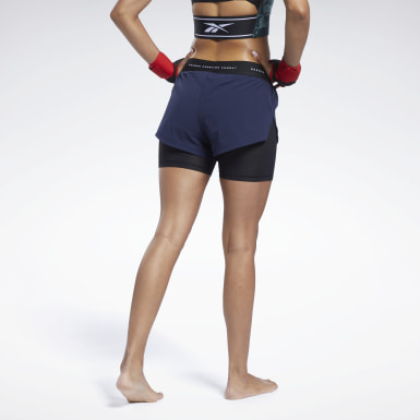 Women MMA Blue UFC Fight Week Kickboxing Shorts