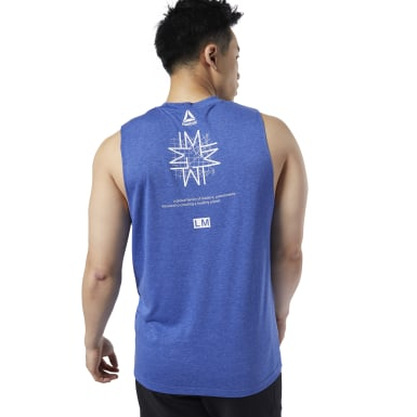 Men Studio Blue LES MILLS® Muscle Tank Top