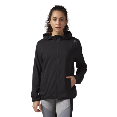 Frauen Fitness & Training Full Zip Hoodie Schwarz