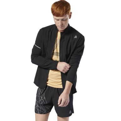 Men Running Black Run Essentials Woven Jacket