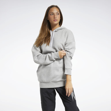 Sweat à capuche oversize en molleton MYT Gris Femmes Fitness & Training