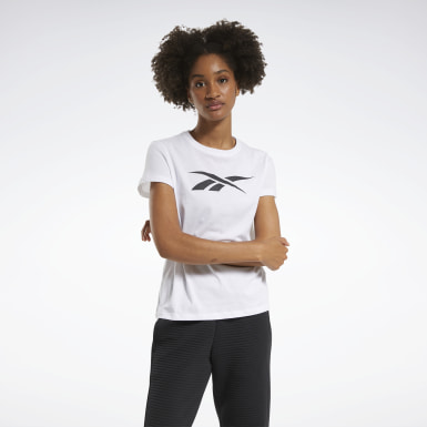 Women Fitness & Training White Training Essentials Vector Graphic Tee