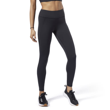 Calzas Rebook Lux 2.0 Negro Mujer Fitness & Training