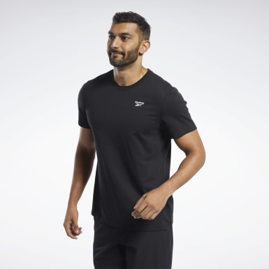 Men Yoga Black Training Essentials Classic Tee