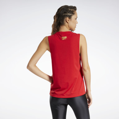Women Studio Red Les Mills® CNY Graphic Tank Top