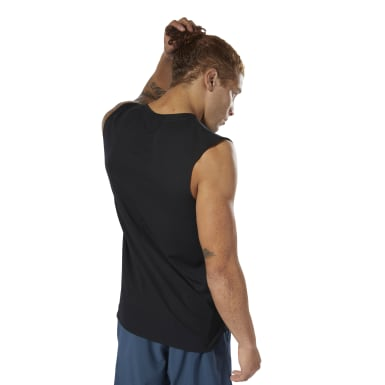 Men Studio Black LES MILLS® Sleeveless Tee