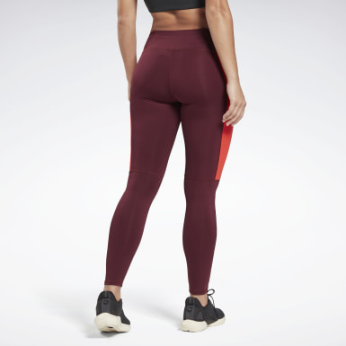 Legginsy Running Essentials Bordowy