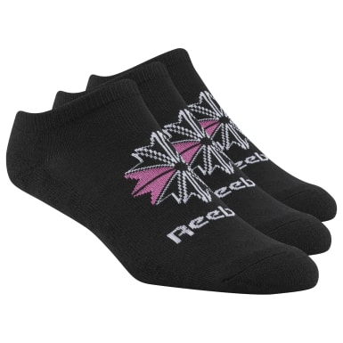 Women Classics Black Reebok Low Cut Socks - 3 Pack