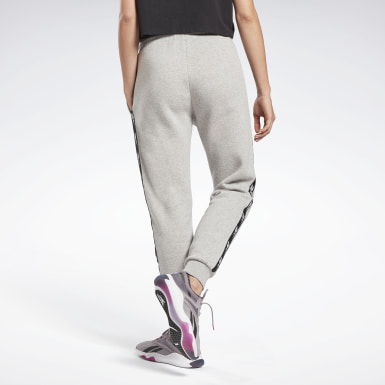 Women Fitness & Training Grey Tape Joggers