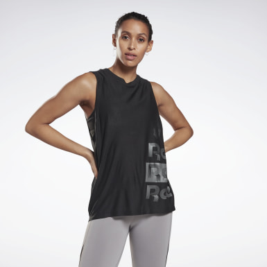 Canotta Studio Graphic Muscle - High Intensity Nero Donna Studio