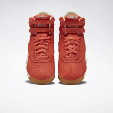 Women Classics Orange Freestyle Hi Women's Shoes