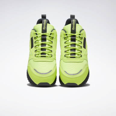Women Classics Green Classic Leather Ripple Trail Shoes