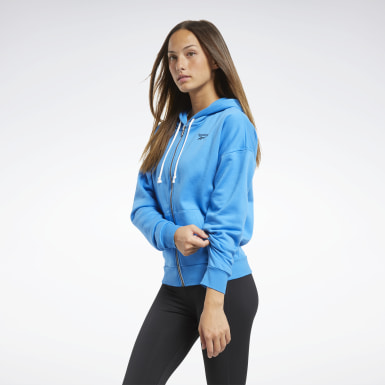Women Fitness & Training Blue Training Essentials Full-Zip Hoodie