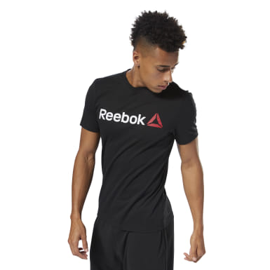 Remera Reebok Linear Read Negro Hombre Fitness & Training