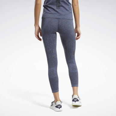 Legging MyoKnit 7/8 sans coutures United By Fitness Bleu Femmes HIIT