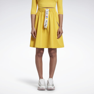 Women Classics Yellow Reebok by Pyer Moss Vector Skirt