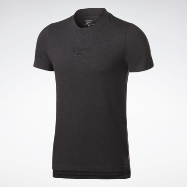 Men Fitness & Training Black Training Essentials Mélange Tee
