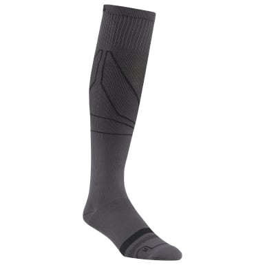 Men Training Grey Reebok Delta Knee High Compression Sock - 1 Pack