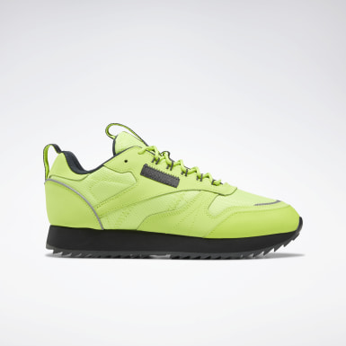 Kvinder Classics Green Classic Leather Ripple Trail Shoes