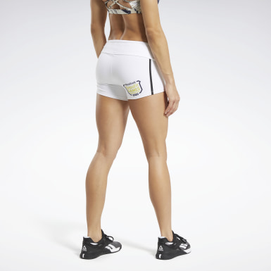 Women Training White Reebok CrossFit® Games Chase Solid Booty Shorts