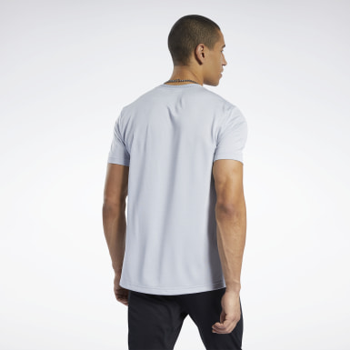 Men Training Grey Workout Ready Melange T-Shirt