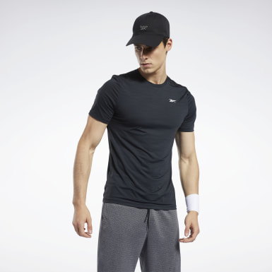 Men Hiking Black Workout Ready ACTIVCHILL Tee