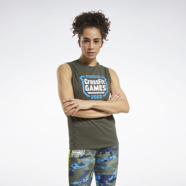 Women Training Green CrossFit® Games Crest Tank Top