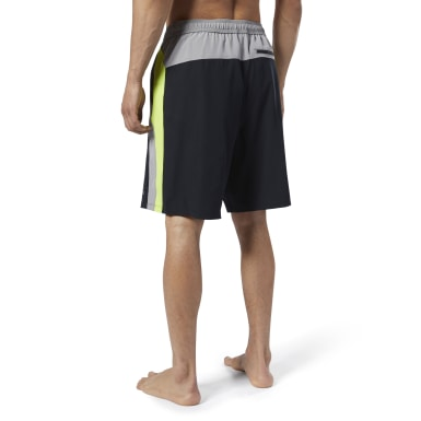 Men Swim Black Splice E-Board Shorts