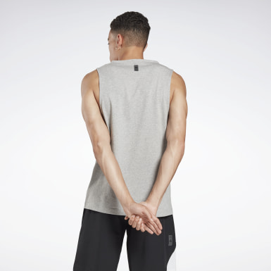 Men Studio Grey LES MILLS® Logo Tank Top