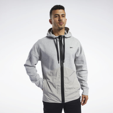 Herr Fitness & Träning Grå Training Supply Hoodie