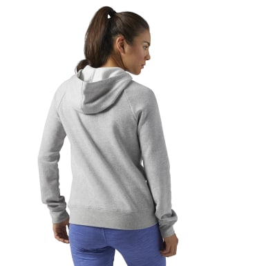 Women Fitness & Training Grey Training Essentials Fleece Full-Zip Hoodie