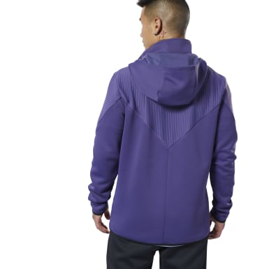 Men Training Purple Thermowarm Deltapeak Control Hoodie