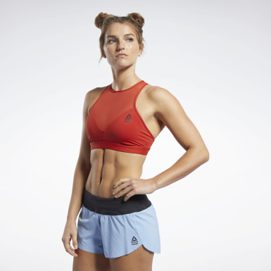 Women Training Reebok CrossFit® Medium-Impact Mesh Bra