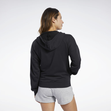 Frauen Fitness & Training Training Essentials Full-Zip Hoodie Schwarz
