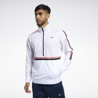 Men Fitness & Training White Workout Ready Jacket
