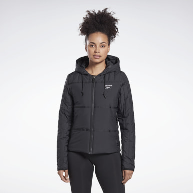 Women Outdoor Black Outerwear Core Padded Jacket