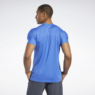 Men Yoga Blue ACTIVCHILL Move Tee