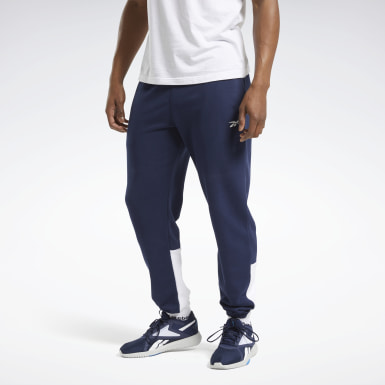 Men Fitness & Training Blue Training Essentials Linear Logo Joggers
