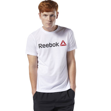 Remera Reebok Linear Read Blanco Hombre Fitness & Training