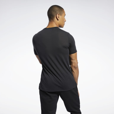 Men Fitness & Training Black Workout Ready Supremium Graphic Tee