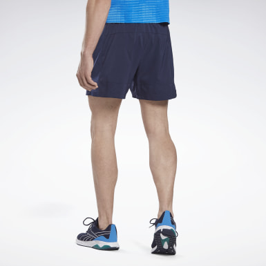 Men Terrengløping Blue Running Essentials Two-in-One Shorts