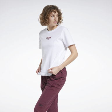 CL SIDE LOGO VINTAGE TEE Bianco Donna Classics